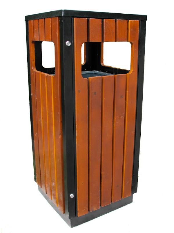 poubelle ext rieure 50 50 120 bois m tal avec porte. Black Bedroom Furniture Sets. Home Design Ideas